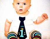 First Birthday Tie Onesie by Fabric2Fashion on Etsy