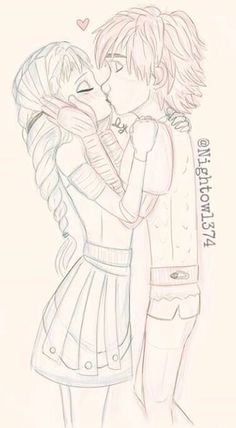 Elsa.and hiccup