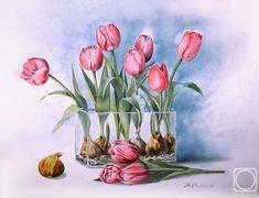Valevskaya Valentine. tulipanes