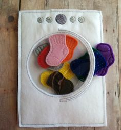 Sock Color Matching Game Embroidered Acrylic by ShopOrangeBlossoms