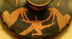 penteo - Titolo dell'opera: Autore: Pittore di Meidias Datazione: 440-430 a.C. Collocazione: Parigi, Museo del Louvre Committenza: Tipologia: pyxis Tecnica: ceramica a figure rosse Soggetto principale: Penteo è smembrato dalle Baccanti