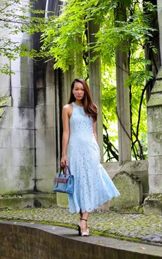 Silk and Suilts - Whistles Cora Lace Dress, Modula England Erin Mini Tote Airforce Blue Mix, Links of London Spirit Collection Jewellery, Zara Sandals Lace Dress, White Dress, Zara Sandals, Air Force Blue, Links Of London, Whistles, Envy, England, Spirit