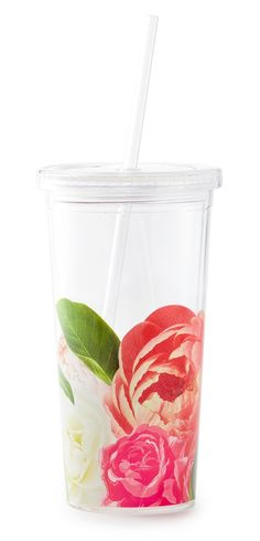 Crushing on this Kate Spade tumbler with gorgeous blooms.