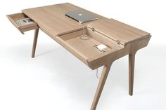 Wood Desk with Lots of Storage