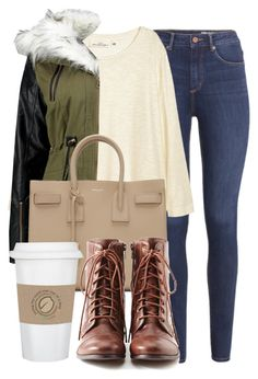 """""""Style #11732"""" by vany-alvarado ❤ liked on Polyvore featuring H&M, Yves Saint Laurent, Liz Claiborne and WALL"""