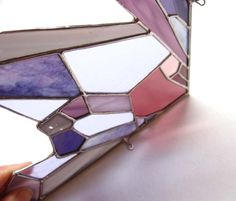 Stained Glass Crystal Amethyst Suncatchers for Window or Door