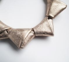 Leather Necklaces – Leather necklace pinkish golden LOOPed – a unique product by Mikashka on DaWanda