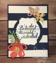My Anchor | Stampin' Up! | Feel Goods | The Open Sea  #literallymyjoy #mothersday #anchor #mother #mom #flowers #2016OccasionsCatalog #2015AnnualCatalog