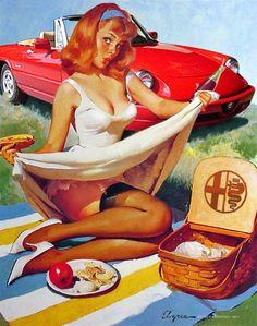 #vintage #Adv #poster #AlfaRomeo