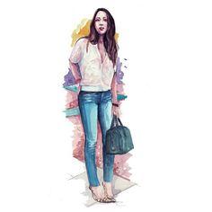 """좋아요 316개, 댓글 3개 - Instagram의 Sketches by Anna Pino Ravelli(@pinodesk)님: """"Skinny and leopard heels for @songofstyle #skinnyjeans #songofstyle #leopardheels"""""""