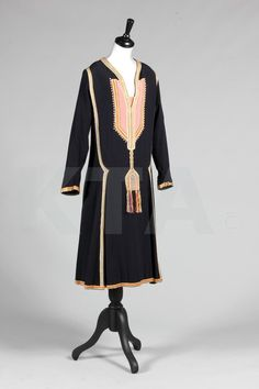 Paul Poiret navy wool day dress 'Persique', Autumn-Winter, 1925