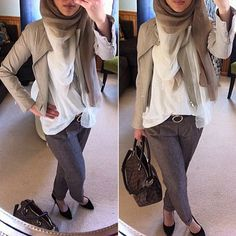 Browns and whites. #hijab