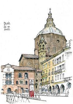 Pavia, duomo by gerard michel