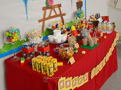 LEGO party dessert table 2 - Not Just a Mommy - what a great blog!