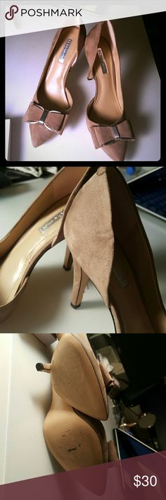BCBGeneration Chester Pump - Suede These shoes are in great condition and have only been worn once. They are too big for me but otherwise I'm sad to see them go. There's a small wrinkle as pictured but otherwise they're in great shape. No stains, no marks. BCBGeneration Shoes Heels