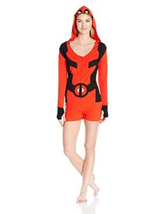 Marvel Womens Deadpool Romper Red Large ** Amazon most trusted e-retailer  #SexyRompers