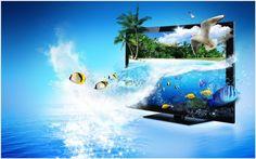 3D TV Wallpaper | 3d tv wallpaper, snsd lg 3d tv wallpaper
