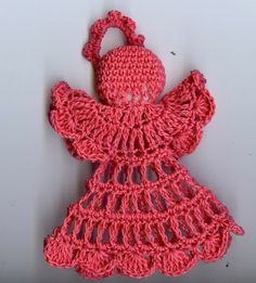 crochet Christmas angel (50) | spinningayarn - Crochet on ArtFire