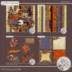 Fall Doozy Digital Scrapbook Bundle at Gotta Pixel. www.gottapixel.net/