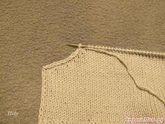 Пройма частичным вязанием + маленькая хитрость.