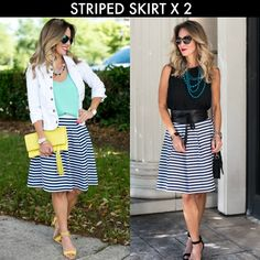 Honey We're Home: Wear to Work | Striped Skirt x 2