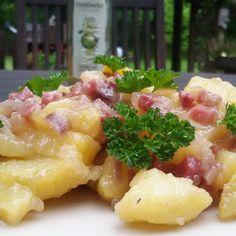 Ollis Grillabenteuer: Lauwarmer Kartoffelsalat mit Speck