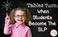 It's Time To Become The Student!  Check out this great articulation therapy idea at http://www.speechtherapyfun.com