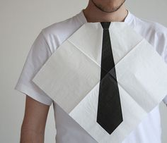 Turn any dinner party into a top notch black tie event with this fun idea. Dress for Dinner Napkins by Hector Serrano Dandy, Georg Christoph Lichtenberg, Estilo Geek, Poster Design, Graphic Design, Dinner Napkins, Dinner Table, Party Napkins, Make Me Smile