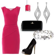 Bright dress, classic accessories may be a perfect look. #TPACafterfive