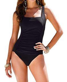 Nice Upopby Vintage Women s Tummy Control Monokini One Piece Swimsuit Retro Bathing  Suit Women s Swimsuits   4020617ff