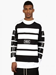 Hood by Air Men's Black Illusion Sweatshirt on shopstyle.co.uk