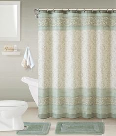 5 Piece Helena Shower Curtain Set