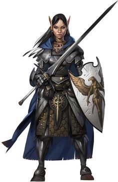 Edansyr - Commander of the Elvin Royal Guard and Queen Isundr's personal body guard