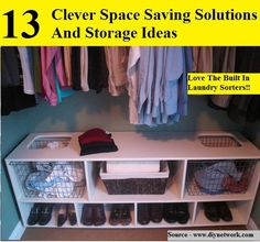 13 Clever Space Saving Solutions And Storage Ideas...For more creative tips and ideas FOLLOW https://www.facebook.com/homeandlifetips