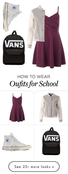 """""""School casual"""" by small-as-an-elephant on Polyvore featuring Miss Selfridge, Tommy Hilfiger, Converse, Vans, StreetStyle and school"""