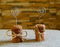 Champagne Cork Place Card Holder, Set of 15