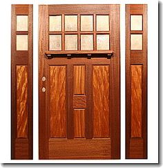 It Is Genuine Mahogany With Ribbon Grain Mahogany Panels. This Door Is X X  It Will Have 2 Sidelights And A Dentil Shelf.