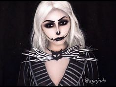 Genderbent Jack Skellington Makeup Tutorial | Body Painted Clothes - YouTube