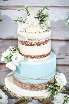 Do bolo de uma festa do bebé chique rústica em Ideias do partido de Kara | KarasPartyIdeas.com (23)