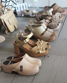 Funkis Clogs via Pilar Gurriaran. <3 all of them! Where does a girl get some of these in America?