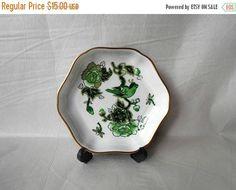 CIJ SALE Vintage Trinket Dish COALPORT Bone China Cathay plate