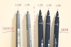 Vidas Imperfeitas: Materiais de desenho II - canetas