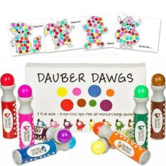 Buy Washable Dot Markers / Bingo Daubers Dabbers Dauber Dawgs Kids / Toddlers / Preschool / Children Art Supply 3 Pdf Coloring eBooks = 100 Activity Sheets To Do! at Discounted Prices ✓ FREE DELIVERY possible on eligible purchases. Art For Kids, Crafts For Kids, Arts And Crafts, Preschooler Crafts, Toddler Gifts, Toddler Toys, Toddler Preschool, Toddler Activities, Bingo