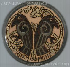 I´m totally collecting every wood plaque in this shop, my studio´s wall is gonna look awesome! Huginn Muninn Ravens Wood Plaque