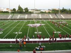 Eastern Kentucky University  Hoping the weather allows us to enjoy the game this weekend!!