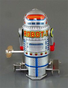 ROBOT-7 | Vintage and Retro Space Age Raygun, Rocket and Robot Toys | Sugary.Sweet | #SpaceAge #Toy #Robot #SciFi