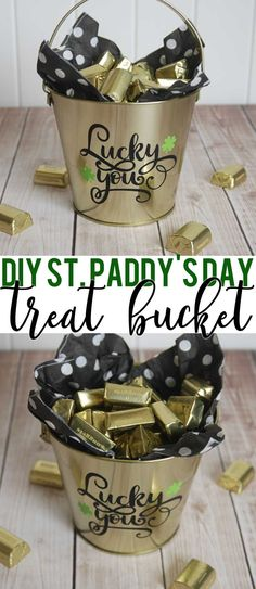 St. Patrick's Day Treat Idea for Silhouette and Cricut | St. Paddy's Day Treat Bucket