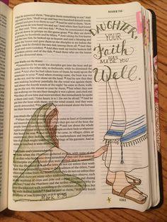 bible Photography sketchbook cover art 24 new ideas Art Journaling, Bible Journaling For Beginners, Bible Study Journal, Scripture Study, Bible Art, Bible Drawing, Bible Doodling, Cover Art, Mark Bible