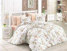 Lenjerie de pat Ranforce Modena V3 #homedecor #inspiration #interiordesign White Salmon, Single Quilt, Quilt Cover Sets, Green And Brown, Comforters, Blanket, Interior Design, Bed, Modern