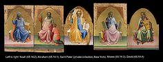 Lorenzo Monaco (Piero di Giovanni) - Ricostruzione della Pala con i Profeti  - Un pannello che mostra San Pietro potrebbe aver formato il pannello centrale.- ca. 1408-10 - The Metropolitan Museum of Art, New York